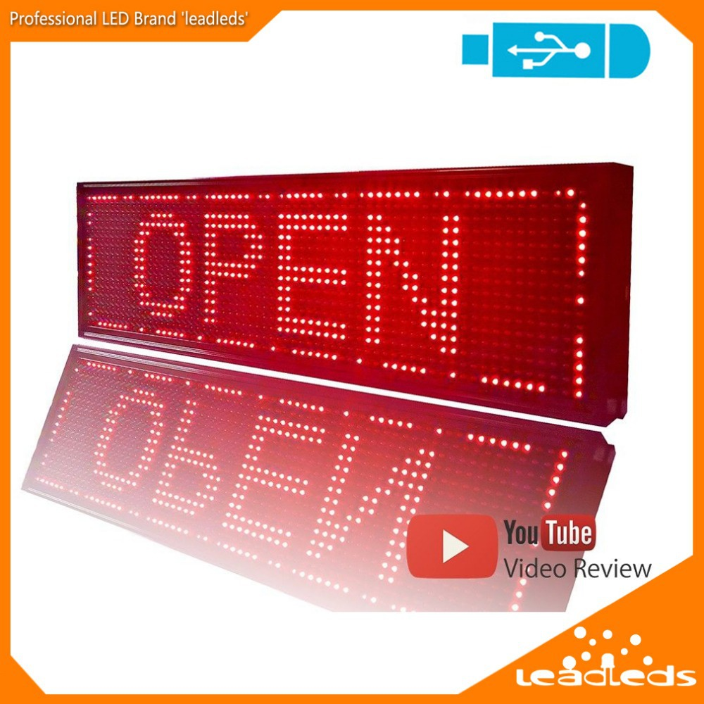 26.4 X 7.5 Inches Programmable Scrolling LED Sign Message Board Display RED