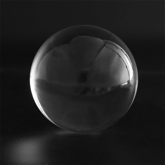 New 40mm 50mm 60mm 80mm 100mm Clear Round Glass Artificial Crystal Healing Ball Sphere Decoration P20 5