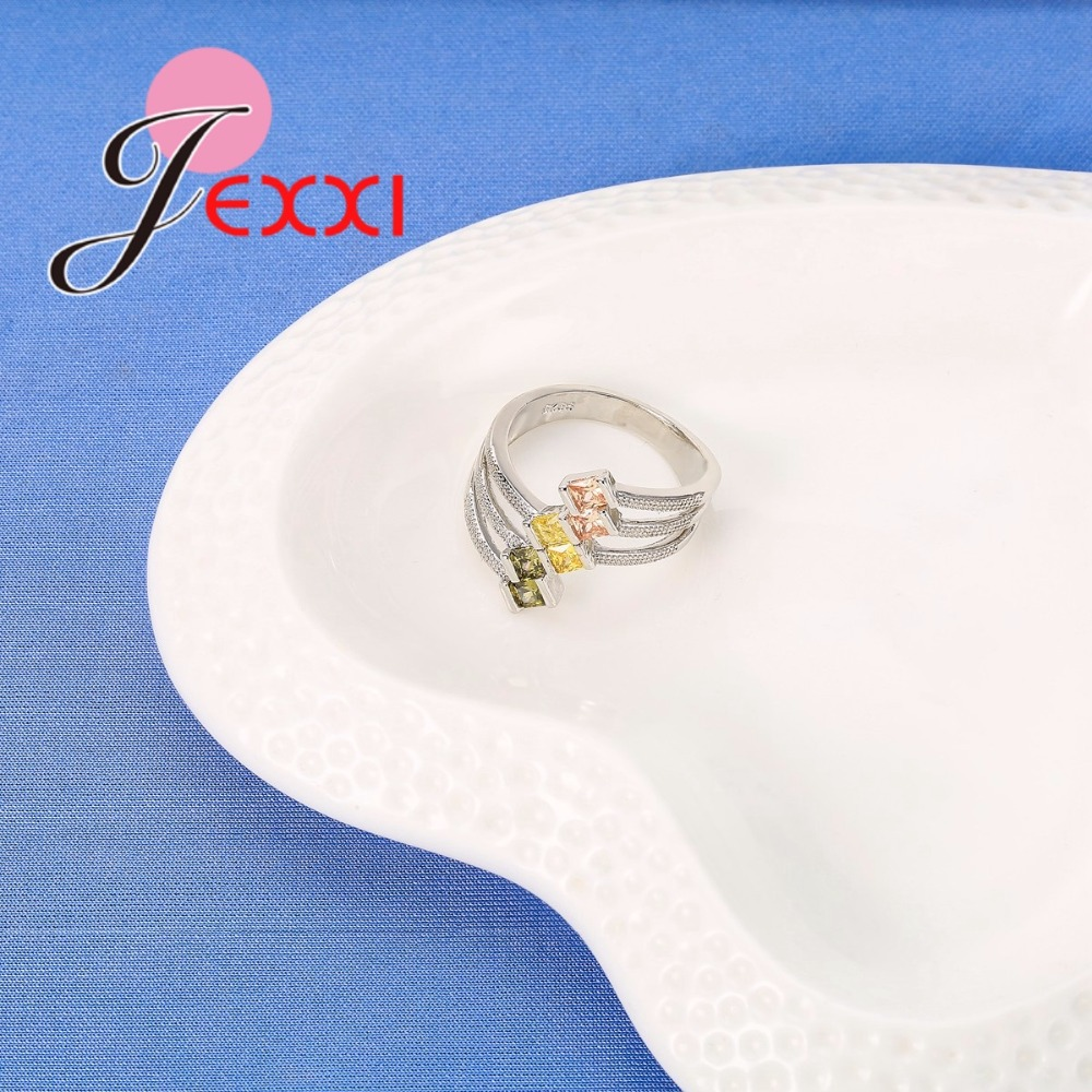 JEXXI Big Size 925 Sterling Silver Ring Paved AAA Clear Cubic - Märkessmycken - Foto 3