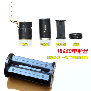 Image 2 - Zoomable 10W LED 4000Lm Rechargeable Flashlight Torch Lantern Portable Light hand lamp Use 2x18650 AC Car USB Chargr