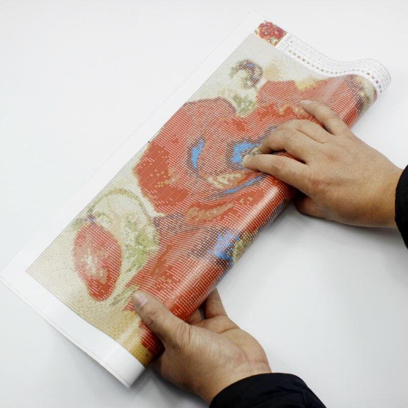Almaz Nakış 5D Çiçək Xaç Dikişi Kristal Meydanı Mozaika - İncəsənət, sənətkarlıq və tikiş - Fotoqrafiya 5
