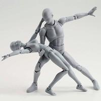 48Pcs Set PVC Action Figures Toy Kids Adults Men Women Body Character Model Set Movable Garage