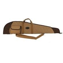 Tourbon 狩猟アクセサリー戦術的なライフルスリップ撮影ガンケースキャンバスパッド入り銃保護バッグキャリア 119 センチメートル