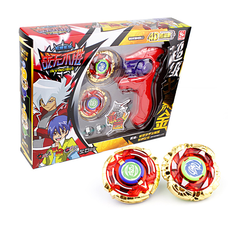 2 in 1 cool alloy gyro toys beyblade set spinning top metal beyblade launcher gyroscope toy top. Black Bedroom Furniture Sets. Home Design Ideas
