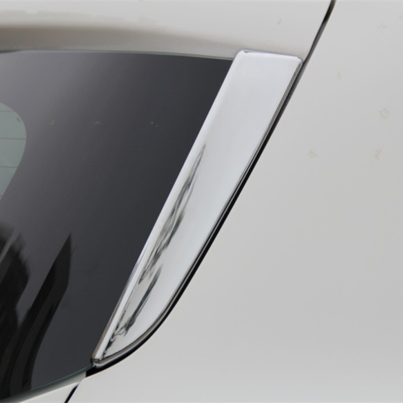ABS Chrome Tail Rear Trunk Window Side Cover Trim Car Styling Accessories Fit For Ford Kuga Escape 2013 2014 2015 2pcs per set car styling abs chrome body side moldings side door decoration for hyundai ix35