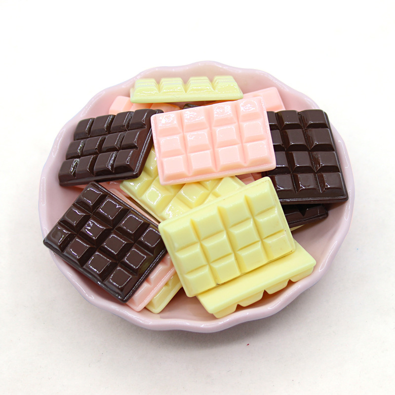 6pcs Cute Mini Simulation Chocolate Dollhouse Miniature Food For Kitchen Decoration