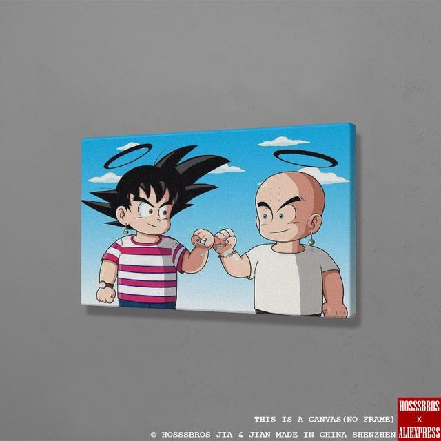 Krillin جوكو لعبة دراغون بول Z DBZ ملصق جدار الموضة الفن قماش لغرفة المعيشة غرفة نوم المنزل دراسة النوم غرفة ديكور يطبع