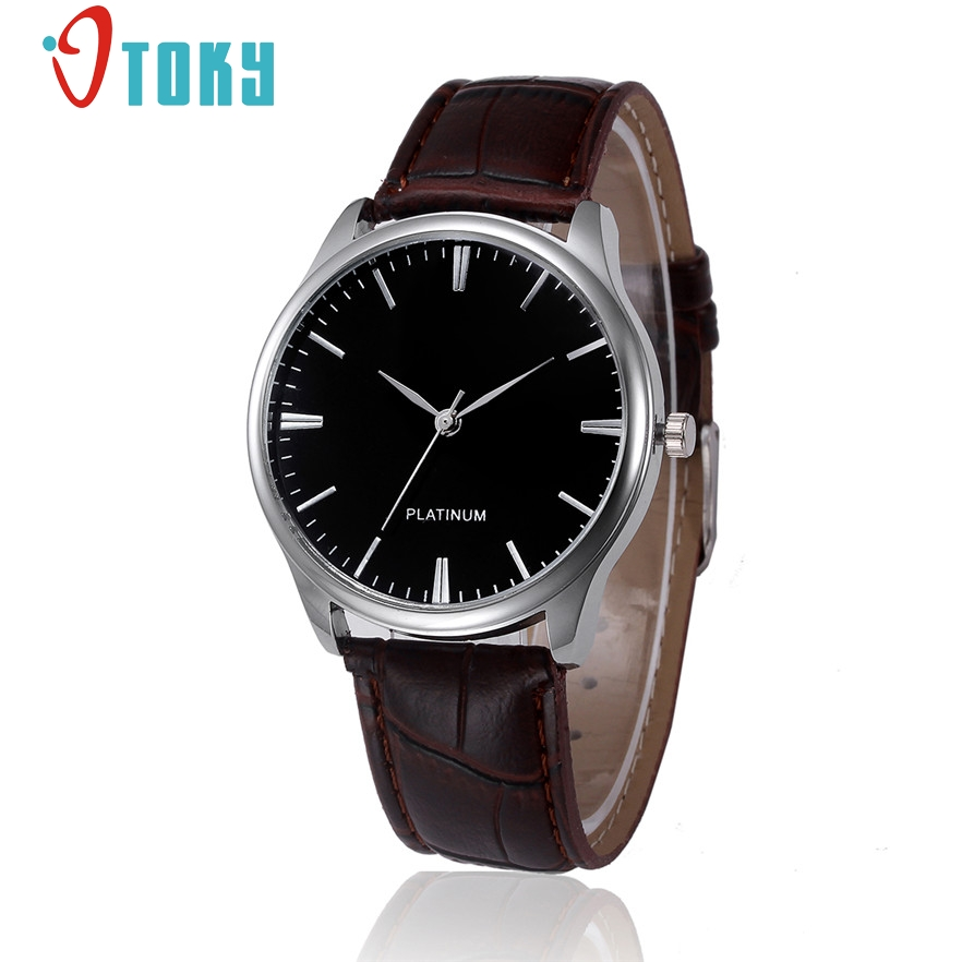 OTOKY Quartz wristwatches Fashion Casual Men Leather Business watch Men s Watch Hours relogio masculino 40