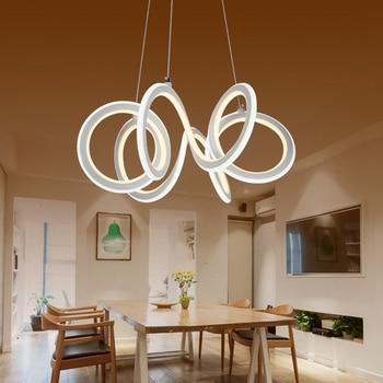 LukLoy Modern Pendant Light Creative Simple LED Double-sided illumination Light Personality Shaped Restaurant Bar Cafe Light