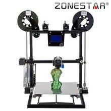 ZONESTAR Large Size 3d printer 300mm x 300mm x 400mm Auto Level Laser Engraving Full Metal Aluminum Frame 3d printer DIY kit