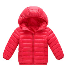 цена на Autumn Winter Boys Girls Jacket Coat 2018 New Kids Warm Hooded Down Outerwear Baby Clothes Children Parka Coat 4 6 8 10 12 Years