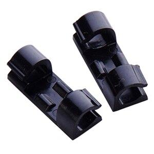 Кабельные Зажимы с прочными самоклеящимися прокладками-не требуется никаких инструментов для организации шнуров и проводов для чистого кр...