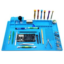 Silicone Soldering Pad Mat Heat Insulation Maintenance Platform With Magnetic For Repair Station GHS99 цена в Москве и Питере
