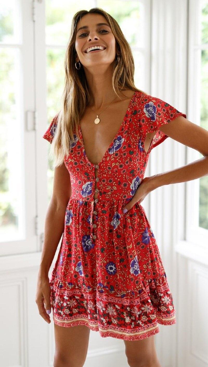 39 vieunsta vintage floral imprimir praia vestido de verão das mulheres novas com decote em v plissado uma linha de mini vestido elegante vestido plissado vestido de verão cinto - HTB1sab4aPnuK1RkSmFPq6AuzFXa0 - VIEUNSTA Vintage Floral Imprimir Praia Vestido de Verão Das Mulheres Novas Com Decote Em V Plissado Uma Linha de Mini Vestido Elegante Vestido Plissado Vestido de Verão Cinto