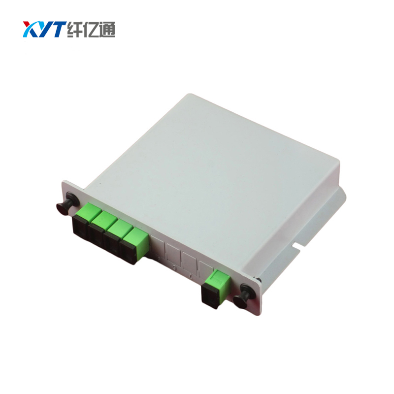 SC APC/ SC UPC Connector 1X4 ABS Box plc splitter Module Type Optical Splitter 2.0mm Cable Fiber Optical Splitter