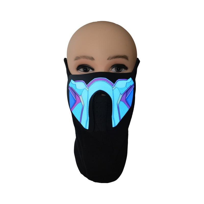 Halloween LED Masks Light Up Party Terror Cold Helmet Fire Festival Glowing Dance Night Decor