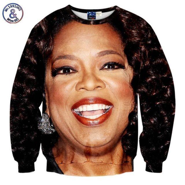 mr1991inc new menwomen 3d sweatshirt printed oprah winfrey street wear casual hoodies - Oprah Winfrey Halloween Costume