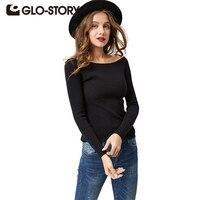 GLO STORY Sweater Women Pullover 2016 Lady Autumn Winter Knitted Sweater Plus Size Jumper Women Sweater