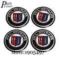 Adesivos de carro Emblema Logotipo Do Emblema Do Decalque Para ALPINA Centro de Roda 56.5mm Arc superfície Hub Caps Para BMW E90 E91 E92 E93 E86 E87 E53 E60