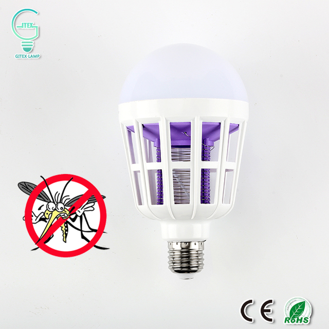 Bug Zapper Bulbs >> Mosquito Killer Led Bulb 220v 15w Led Bug Zapper Lamp E27 Insect