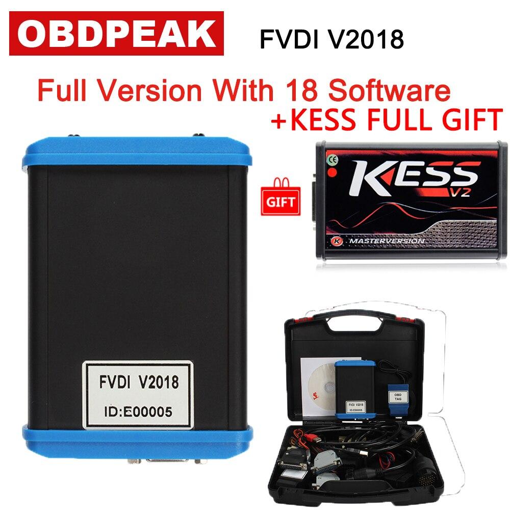 Date FVDI 2018 Version Complète Avec 18 Softwares Pas Limitée Fly FVDI V2018 Couverture Toutes Les Fonctions De FVDI V2014/ v2015/V2016 Sur Vente