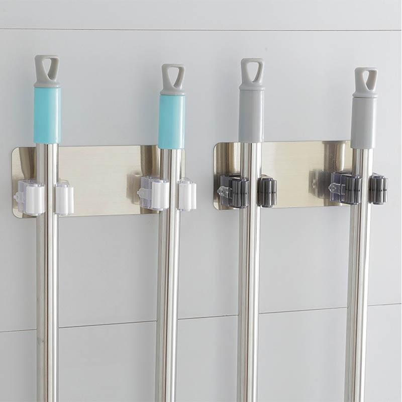 Kitchen Rag Tools Brush Storage Rack Mop Holder Traceless Sucker Hook Broom Hanger 1 PC Bathroom Accessories Multifunctional