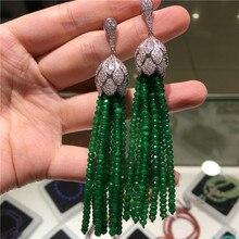 Vente chaude styles européens américains couleur naturelle face pierre micro incrustation zircon accessoires boucles doreilles bijoux de mode
