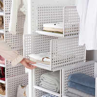 Drawer type clothes Folder Layered Separator Wardrobe storage rack Sundries Shelf Holder Space saver Kitchen Bedroom Organizer