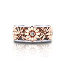 Фотография Elegant Sunflower Dragonfly Hollow Shiny Metal Finger Ring Women Jewelry Xmas Gift