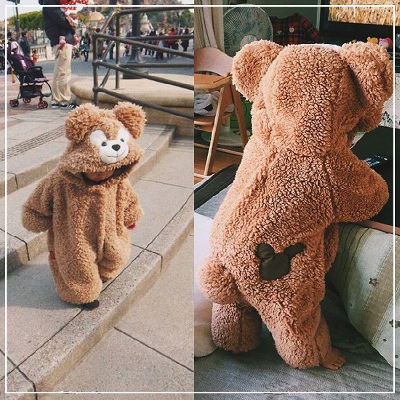 New Baby Romper Cute Cartoon Baby Winter Clothes Funny Bear Warm Hoodies Costume Jumpsuit Kids Baby Outfits Toddler Clothes 2019| |   - AliExpress