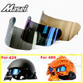 MASEI 429 489 Motorcycle skull helmet lenses Dual Use Skull helmet len ses half helmet open face helmets Accessories
