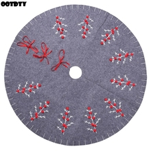 47.2 Inch Vintage Christmas Tree Skirt Decorations Holiday Ornaments Decoration Xmas Party