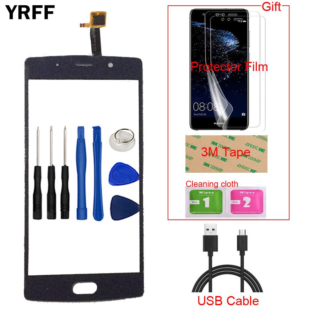 Mobile Téléphone Avant Écran Tactile Pour Doogee BL7000 BL 7000 Écran Tactile En Verre Numériseur Capteur + Film Protecteur Libre bande