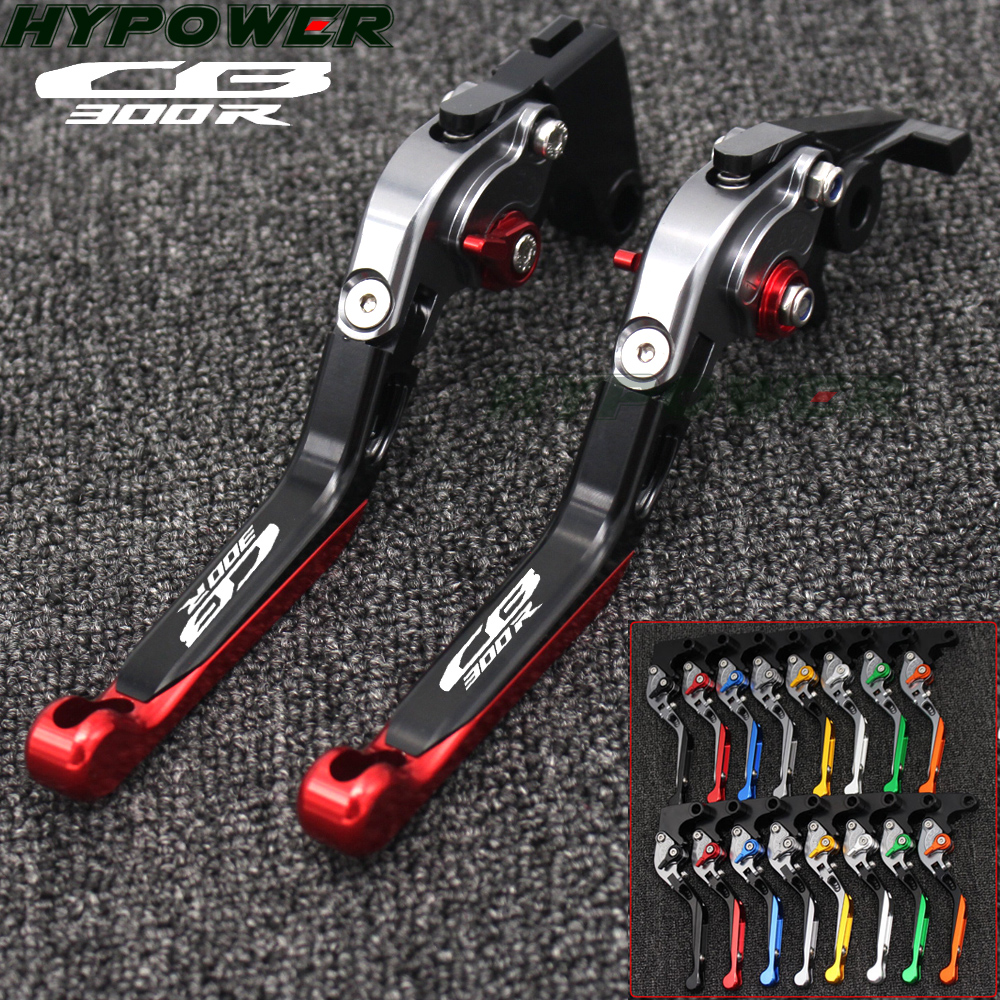 For Honda CB300R 2019 CB 300R LOGO  CNC Motorcycle Accessories Adjustable Folding Brake Clutch Lever With