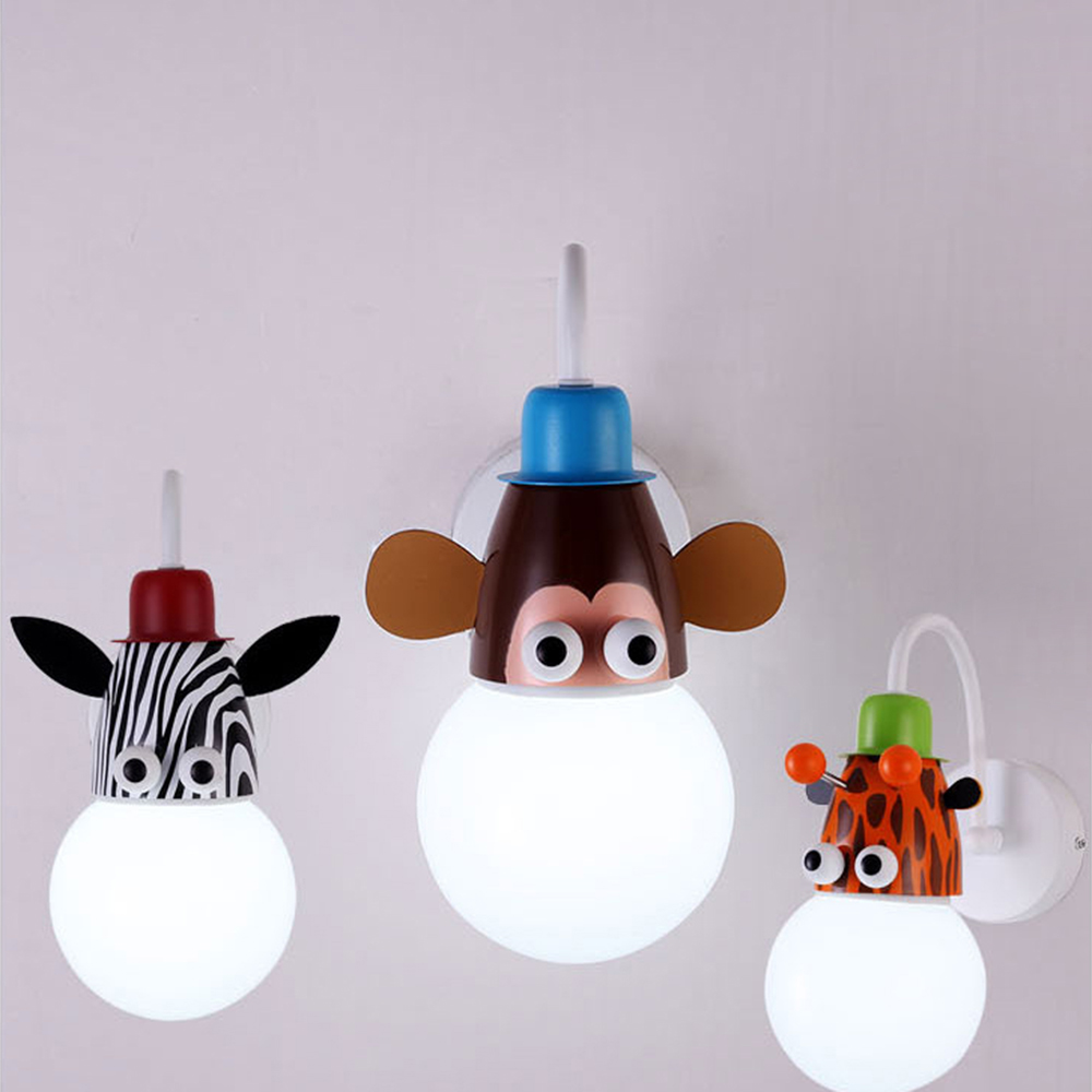 aliexpress : fghgf cartoon zoo kinder semi wandleuchte lampe, Schlafzimmer entwurf