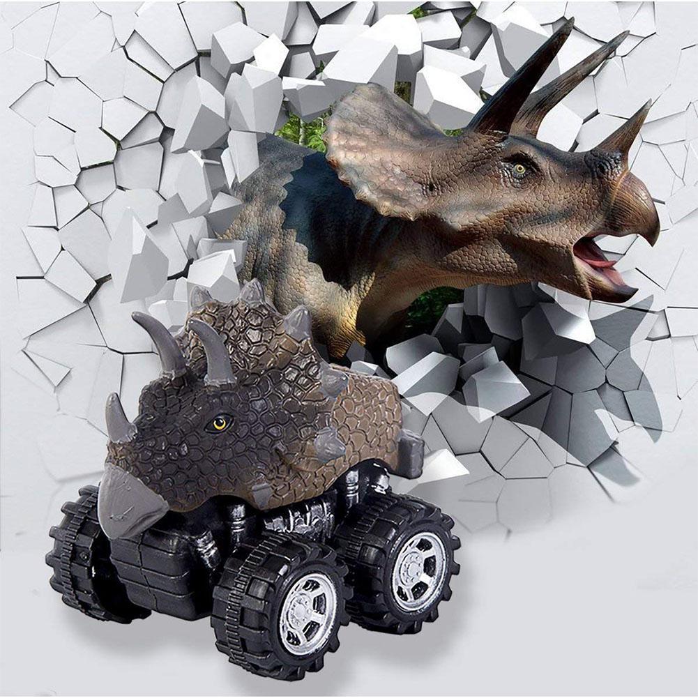 LeadingStar Mini Dinosaur Car Toy Spring Pull Back Car Model Vehicle Wind-up Toys Kids Educational Toy