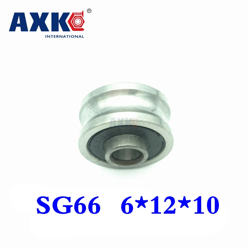 2018 New Arrival Rolamentos Free Shipping 2 Pcs Sg66 U Groove Pulley Ball Bearings 6x22x10mm Track Guide Roller Bearing Abec5 tv0630 tv0630vv v groove pulley ball bearings 6 30 8 mm track guide roller bearing