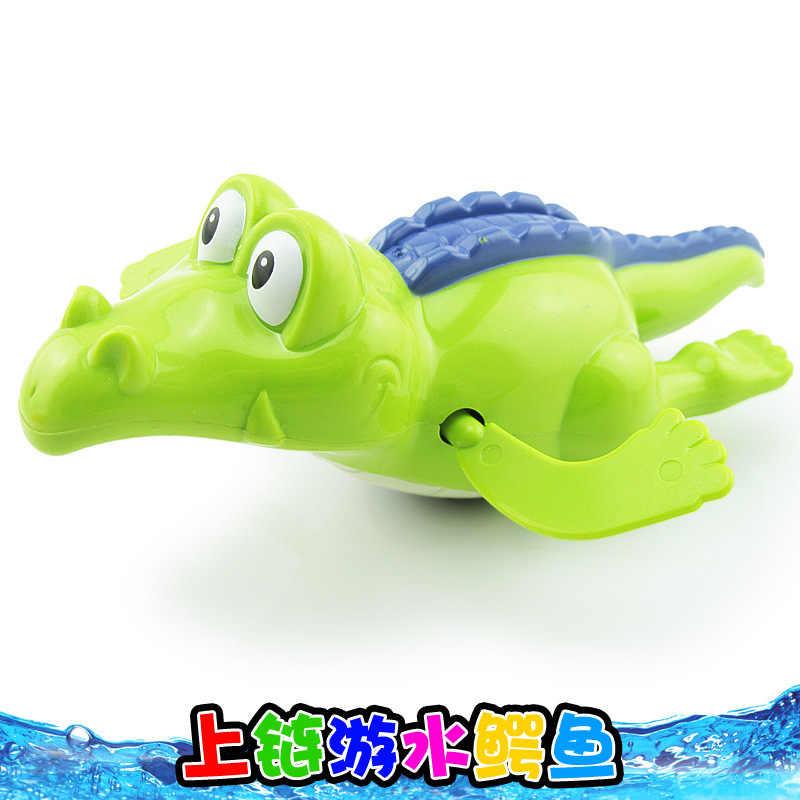Clockwork ของเล่นเด็ก Swing จระเข้พลาสติก Wind Up ของเล่นเด็กสระว่ายน้ำสระว่ายน้ำอ่างสัตว์ Sounding การศึกษาสุ่มสี