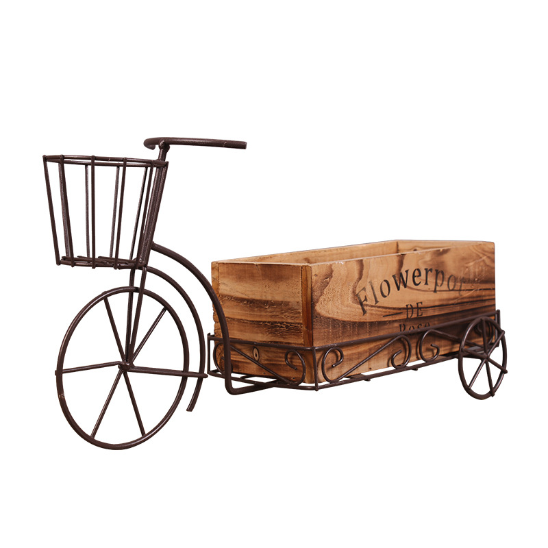 Idyllic Wrought Iron Tricycle Flower Stand Flower Pots Planters Creative Decorative Crafts Flower Baskets Garden Pots Home DecorIdyllic Wrought Iron Tricycle Flower Stand Flower Pots Planters Creative Decorative Crafts Flower Baskets Garden Pots Home Decor