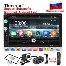 """Specchio link Android 8.0 autoradio 2din 7 """"Schermo di Tocco di lettore MP5 Bluetooth mani libere FM/TF/ USB macchina fotografica di retrovisione mp5 autoradio"""