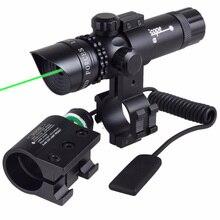 A prueba de golpes Adjuctatble Láser Alcance Táctico Punto Verde Mira Láser Rifle Scope 5 mW Emisor Láser de Arma Del Rifle