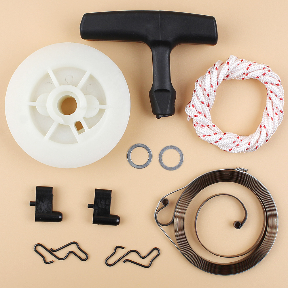 Recoil Pull Starter Spring Pulley Handle Grip Rope Kit For STIHL MS180 MS170 MS210 MS230 MS250 021 023 025 017 018 Chainsaws