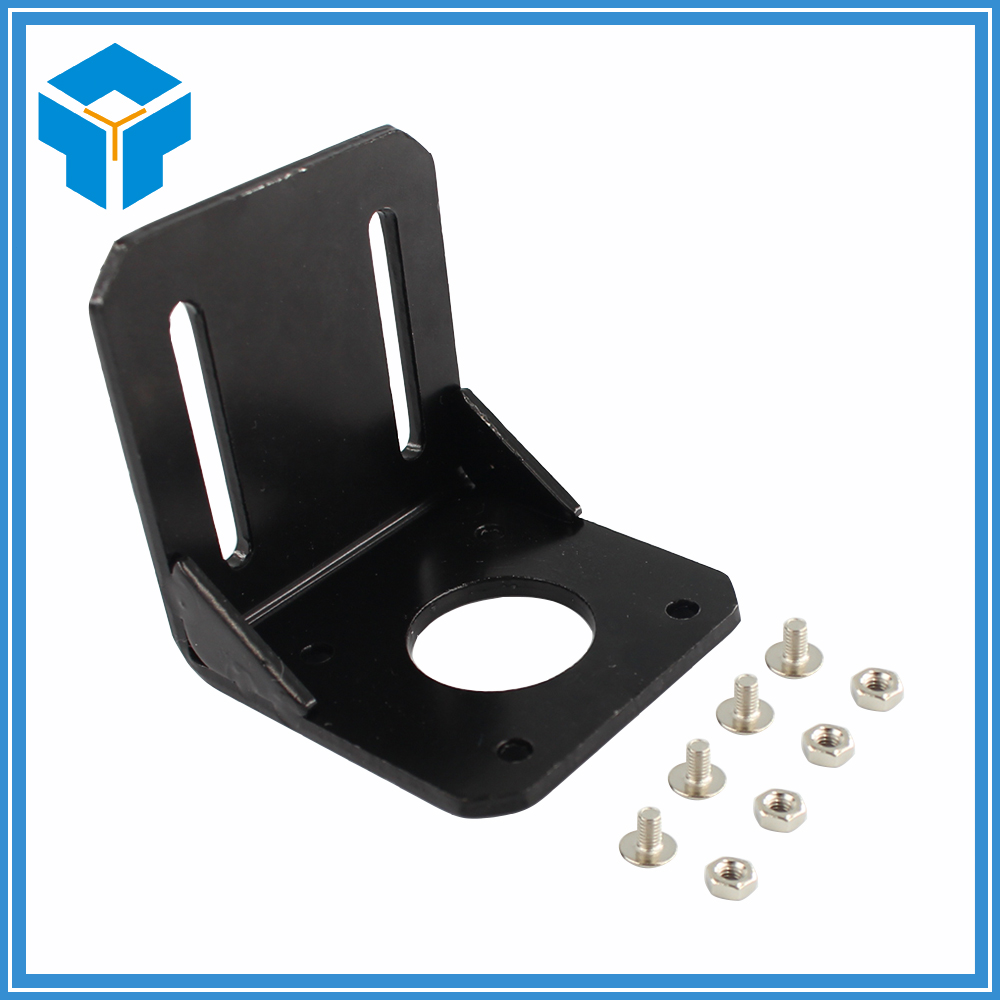 New Alloy Steel Mounting bracket for 42mm NEMA 17 stepper motor with Screws Black aluminium alloy mounting bracket for nema 17 stepper motor geared stepper motor