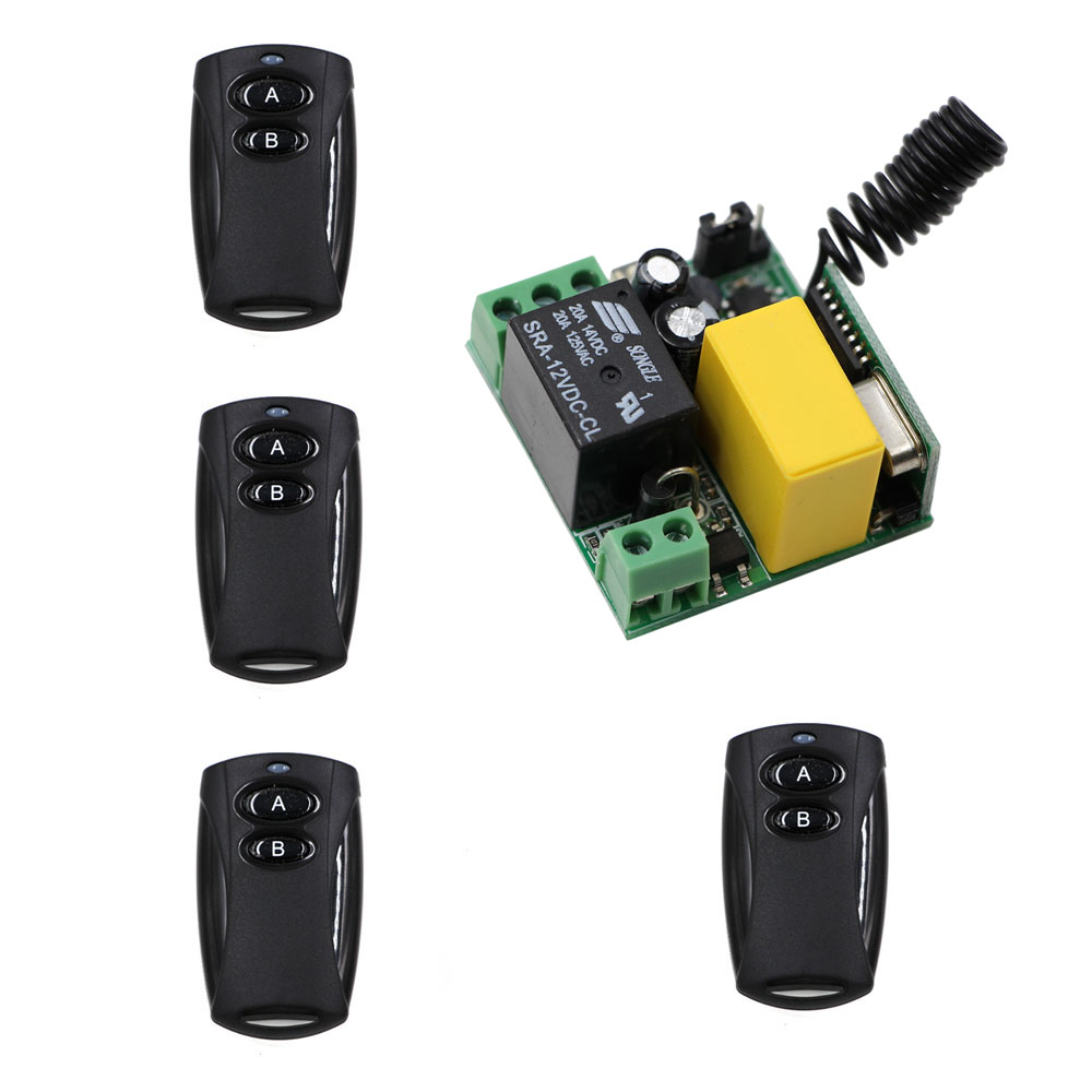 Universal Wireless Remote Control Switch AC 220V 1CH 10A Relay Mini Receiver and 1 Channel Remote Controller For Water Pump wireless remote control switch 10a mini relay receiver