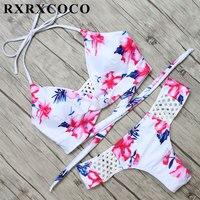 Newest 2017 Bikinis Women Swimsuit Swimwear Brazilian Bikini Floral Bathing Suit Bandage Bikini Set Maillot De
