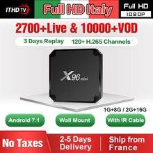 X96 MINI IPTV Italy France Portugal Turkey Spain 1 Year Android 7.1 1G+8G/2G+16G Arabic