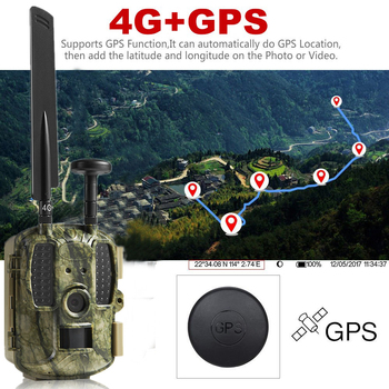 4G Hunting camera GPS FTP Camera trail Email with 4G Hunting Wildlife camera support MMS GPRS GSM Photo traps 4G Night vision цена 2017