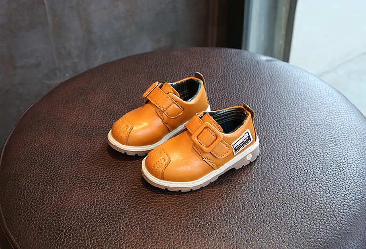 New 2018 Fashion Kids Toddler girl Boy Preschool Leather Shoes Childrens Spring Autumn Single Shoes 1 2 3 4 5 6 Old Yeras 25