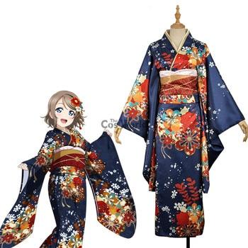 LoveLive!Sunshine!! Aqours New Year Watanabe You Yukata Kimono Dress Uniform Outfit Anime Cosplay Costumes