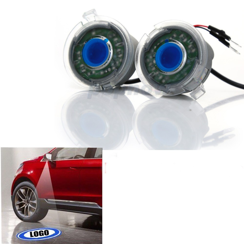 ФОТО 2pcs Canbus Led Logo Shadow Light Rearview Mirror Mount Projector Ghost Puddle Lamp For 2015 Ford Edge #6015